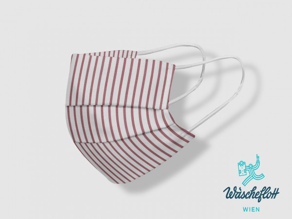 Facemask red striped